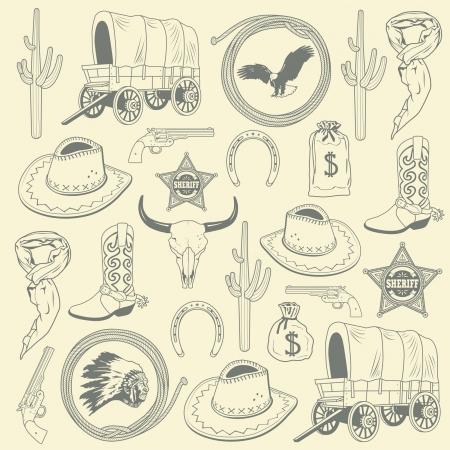 wild west: Cowboy seamless pattern