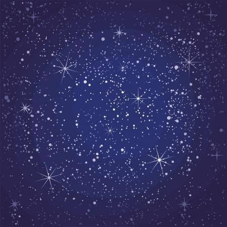 星空の夜のシームレスなパターン  イラスト・ベクター素材