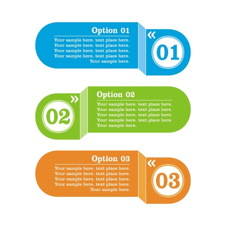 options banner. Vector illustration Stock Vector - 18731972
