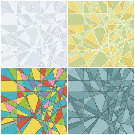 Set of abstract backgrounds Stock Vector - 18992700
