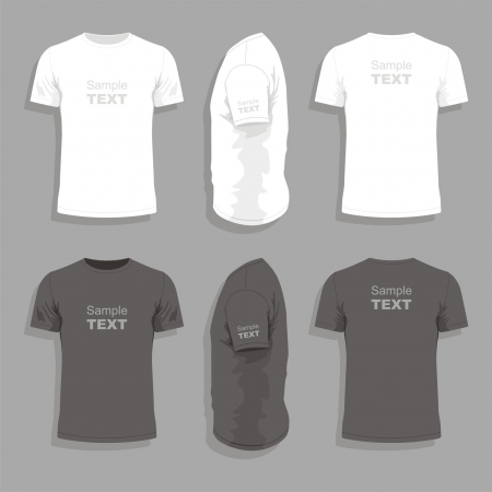 short sleeve: Mens t-shirt design template Illustration