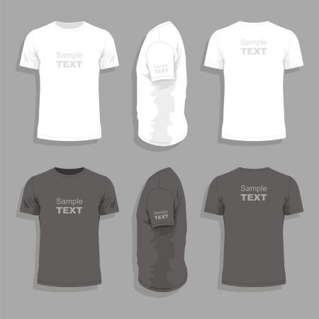 Modelo de design de t-shirt dos homens