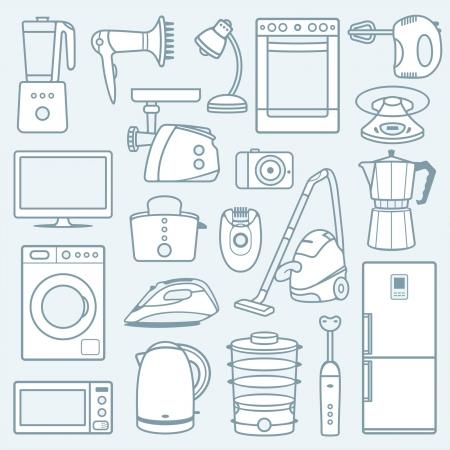 Huishoudelijke apparaten een achtergrond