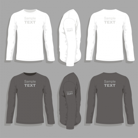 raglan: Mens t-shirt design template Illustration