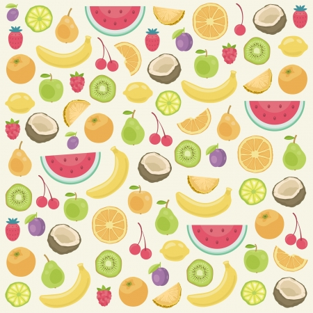Fruits seamless background Stock Vector - 20012070