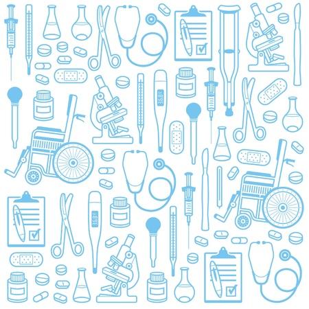 esboço: Medical padr�o sem emenda Ilustração