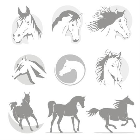 logos horse Stock Vector - 20457432