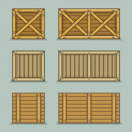 three dimensional accessibility: wooden boxes Illustration