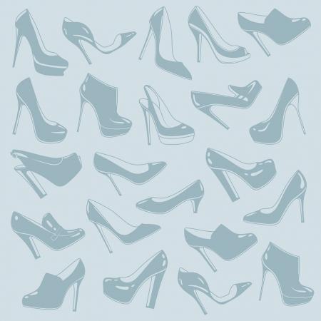 pies bailando: patrón de los zapatos
