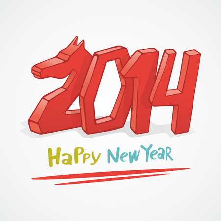 Happy new year 2014 Stock Vector - 23869588