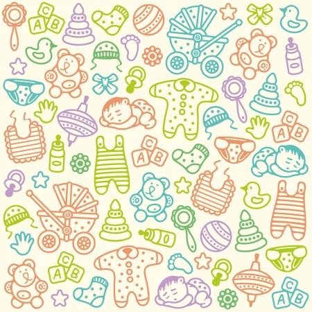 Motif de bébé Banque d'images - 24589500
