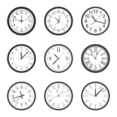wall clock: vector illustration of clock