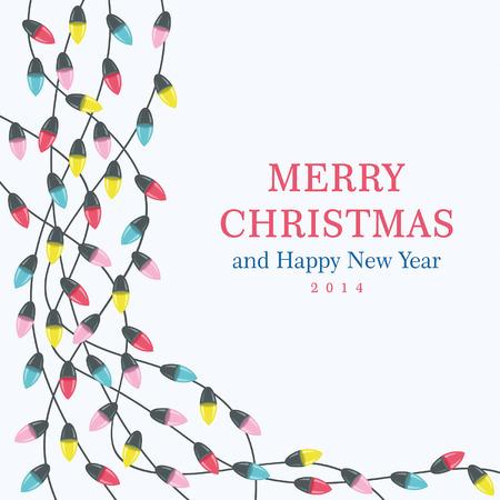 Christmas lights background Illustration