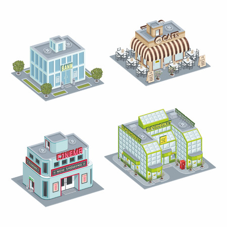 Building set Stock Vector - 25275084