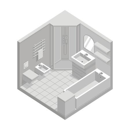 cutaway: bathroom Illustration