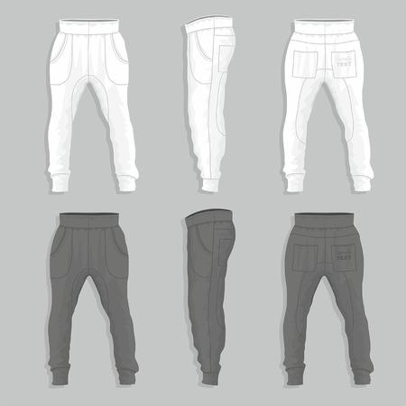 jogging track: sweatpants Illustration