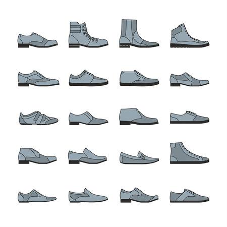 Footwear icon vector set Illustration