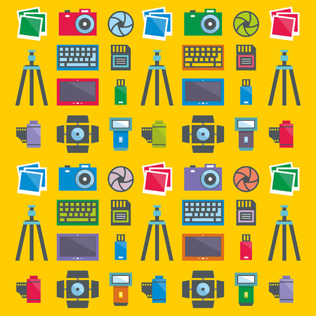 tripods: seamless pattern Photographer