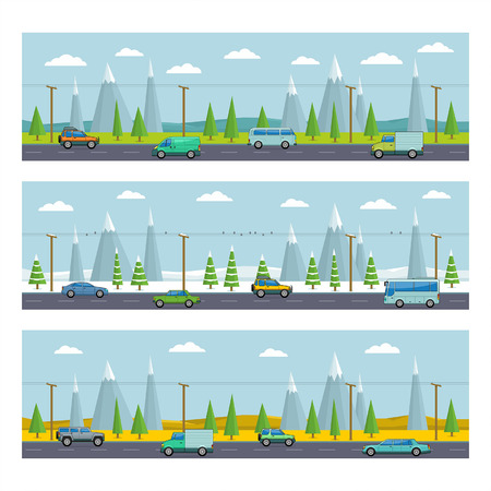 landscape with mountains  Vector illustration Vector
