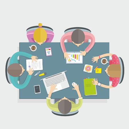 m�nner business: Gesch�ftstreffen Illustration