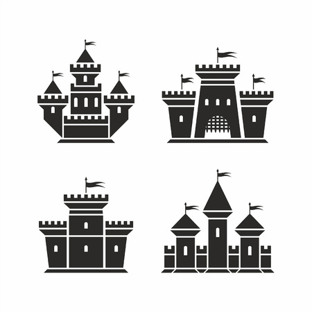 history: castle icons Illustration