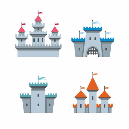 fantasy castle: castle icons Illustration