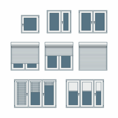 plastic window Vector