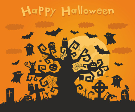all saints day: Halloween background