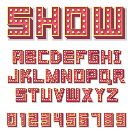 Alphabet with show lamps