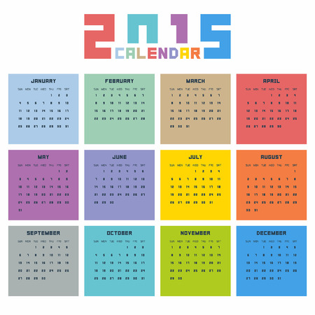 달력 2015 스톡 콘텐츠 - 33743119