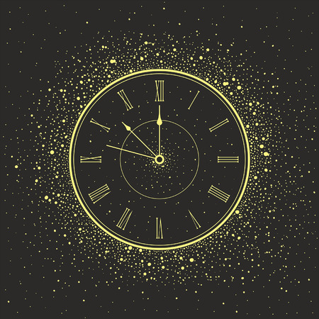 new year's eve: New Year Clock