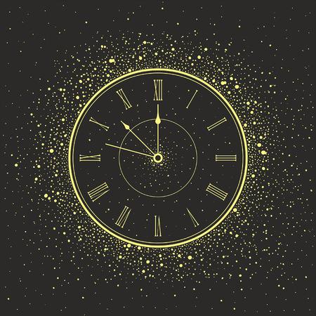 sylwester: Nowy Rok Zegar