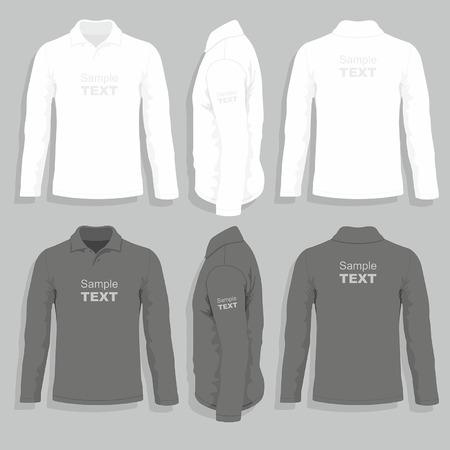Mens t-shirt design template Illustration