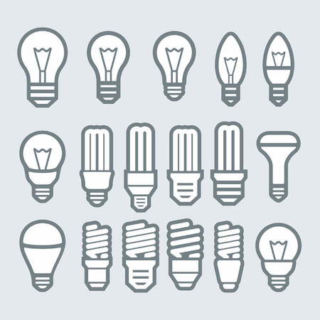 light bulb idea: Light bulbs. Bulb icon set