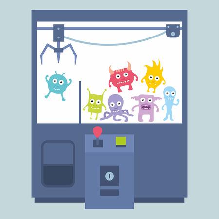 gibier: Griffe grue machine de jeu Illustration