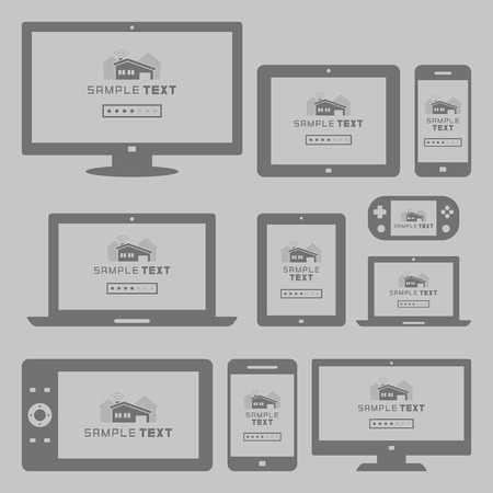 television set: Modern computer and mobile devices set