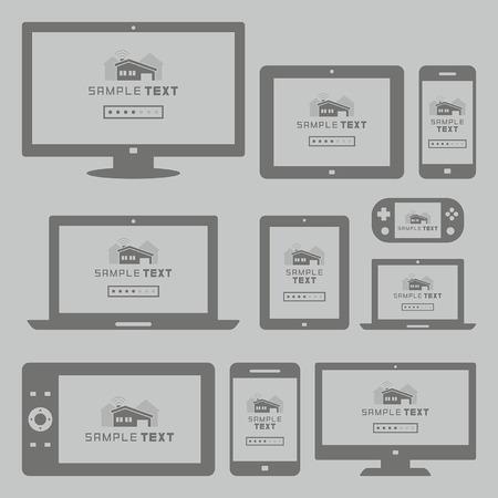 Moderne computer en mobiele apparaten set