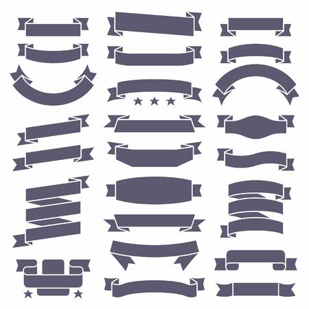 Ribbons set Illustration