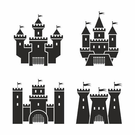 castle: castle icons Illustration