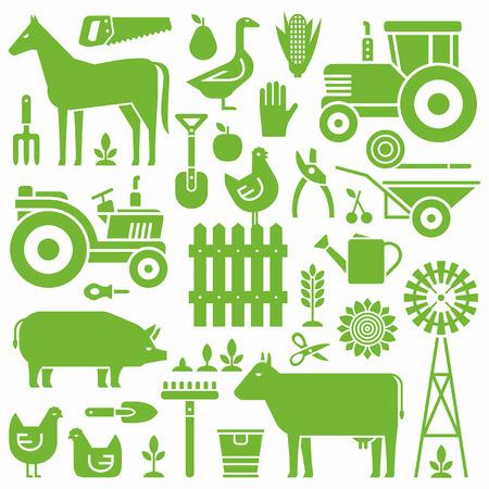 agriculture wallpaper: Farm pattern Illustration