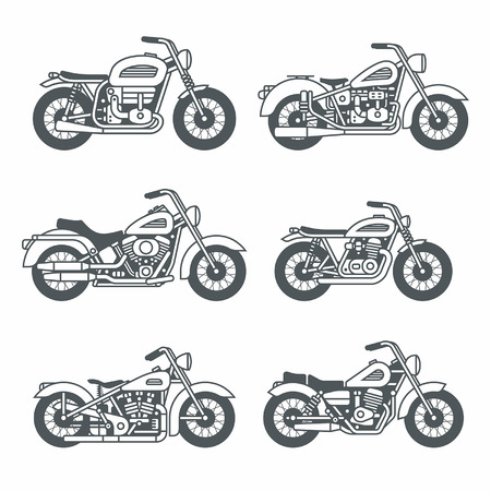 Motorcycle Icons set Stock Vector - 37556254