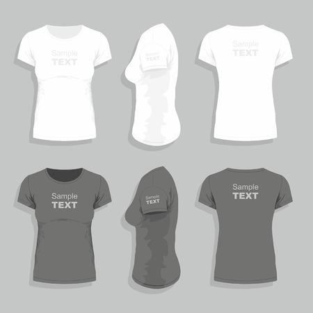 Vrouwen t-shirt Stock Illustratie