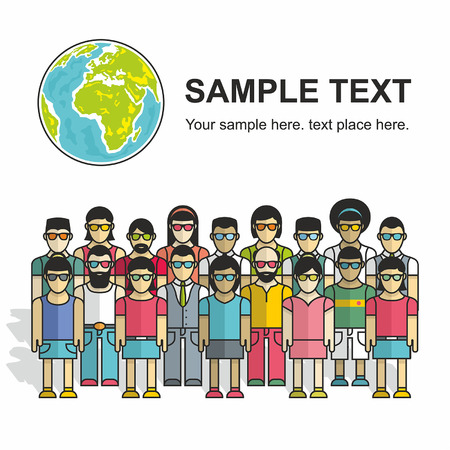group of people. vector background Vector