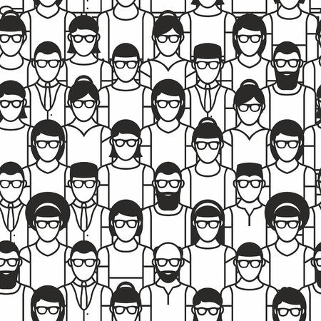 gruppe von menschen: Nahtloser Hintergrund Gruppe Menschen
