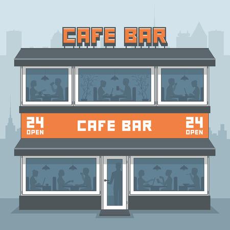facade: Facade of a cafe