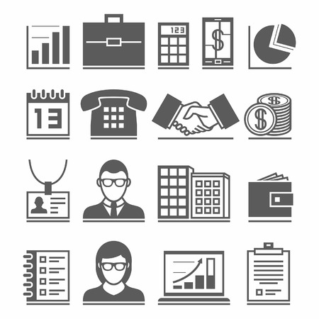 Business Icons Stock Vector - 40163417