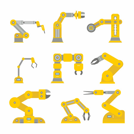 bras robot: Bras de robot industriel Illustration