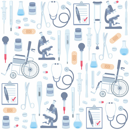 Medical seamless pattern Иллюстрация