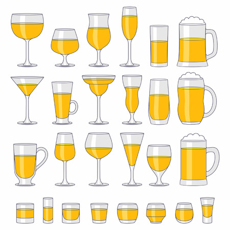 plan éloigné: verres d'alcool définies