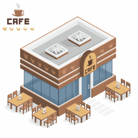 Cafe gebouw